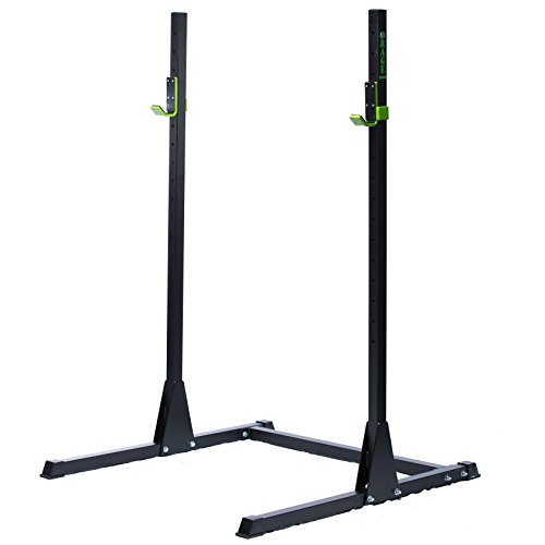 "RAGE Fitness Adjustable Squat Rack, Bench Press Rack, 2"" x 2""  11 gauge steel construction by Rage Fitness"
