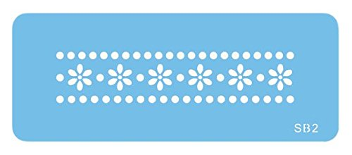 JEM Bord/ürenschablone mit G/änsebl/ümchen und Punkten Kunststoff Blau 15 x 1 x 15 cm