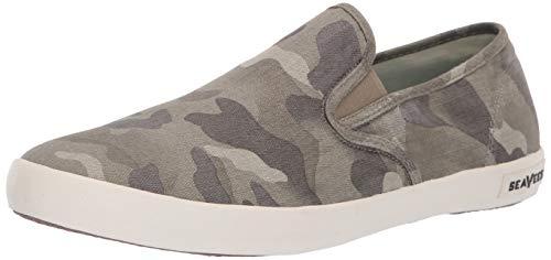 (SeaVees Men's Baja Slip On Saltwash Sneaker, sage camo, 9 M US)
