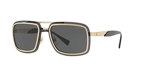 Versace Sunglasses Gold/Grey Metal - Polarized - - Sunglasses Versace Gold