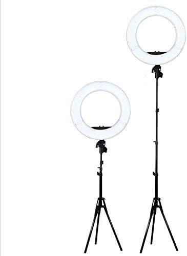 Spkd Anillo de luz LED, Espejo de Bucle de vídeo LED de 18 ...