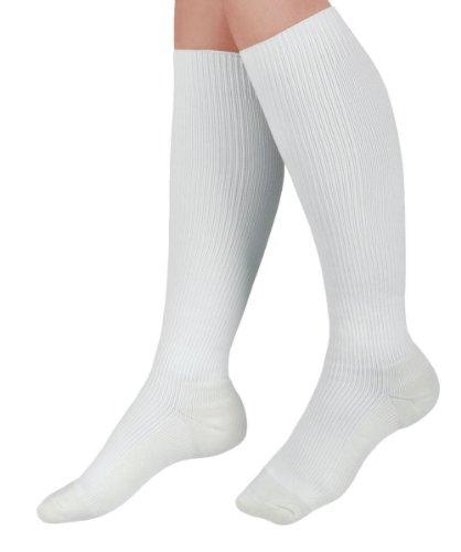 Medline Curad Cushioned Compression Socks, White, (Medline Stocking)