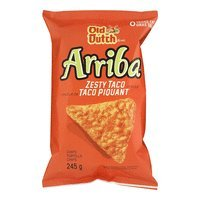 Old Dutch Arriba Tortilla Chips Zesty Taco 245g {Imported from Canada}