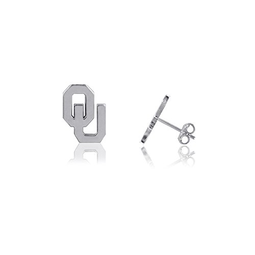 University of Oklahoma Sooners OU Sterling Silver Jewelry by Dayna Designs (Stud Earrings) (Sterling Ring Sooners Silver Oklahoma)