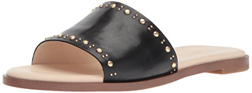 Cole Haan Women's Anica Stud Slide Sandal, Black Leather, 10 B US by Cole Haan