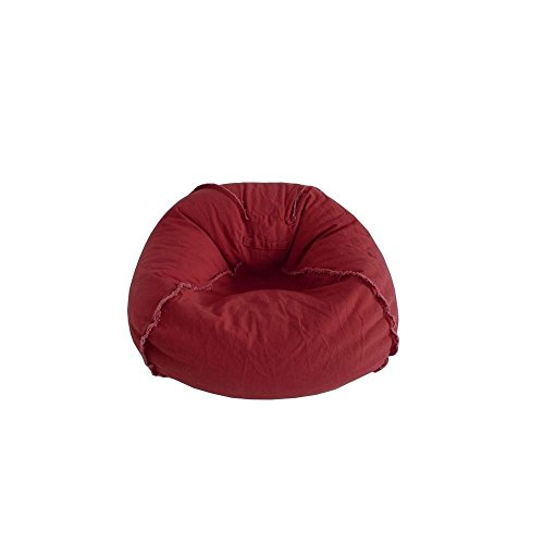 Ace Bayou 9803401 Large Canvas with Exposed Seams Bean Bag in Marsala (Bayou Bean Bag Large)