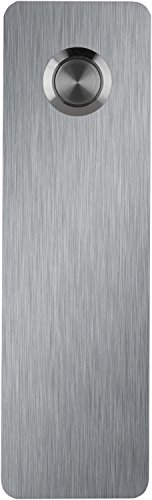 Waterwood Stainless Steel Ultra Modern Rectangle Doorbell - Adhesive Mount