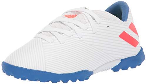 adidas Unisex Nemeziz Messi 19.3 Turf Soccer Shoe, White/Solar Red/Football Blue, 11.5K M US Little Kid
