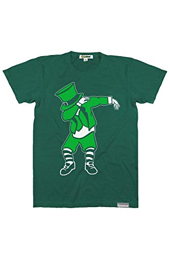 Funny Men's St. Paddy's Day Shirts - Green St. Patrick's Day Tees Outfits for Guys (Dabbing Leprechaun, XX-Large)]()