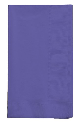 Creative Converting Touch of Color 2-Ply 50 Count Paper Dinner Napkins, Purple