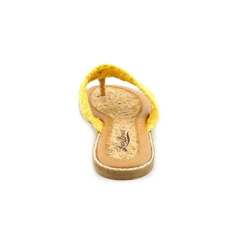 Lucky Brand Barry Donna Giallo Scarpe Sandali Taglia