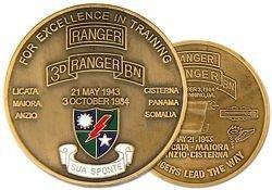 US Army Ranger 3rd Ranger Battalion Challenge (Battalion Challenge Coin)