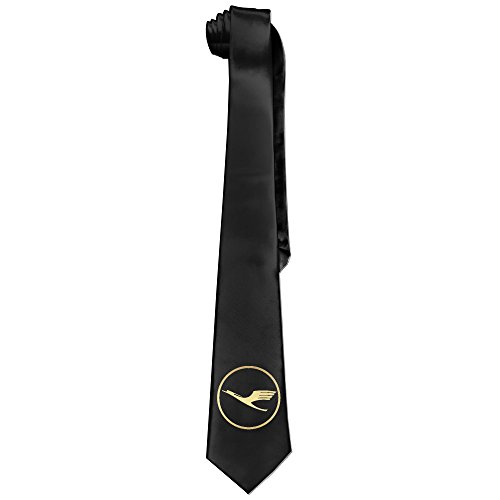 mens-casual-style-ties-necktie-printing-golden-lufthansa-logo-graphic