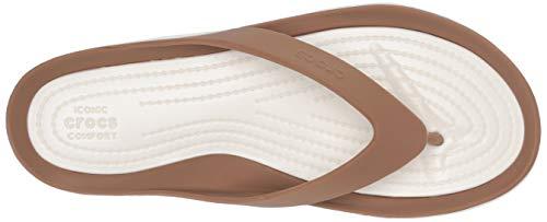 Para Crocs Playa Oyster W Mujer Swiftwater 81f Flip Piscina Zapatos De Marrón Y bronze qrXrp8wx