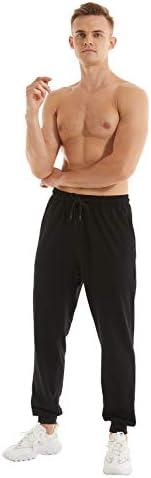 yuyangdpb Men's Athletic Joggers Pants Running Pants Cotton Sweatpants with Pockets 3