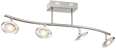 Pro Track Aldrin 4-Light Satin Nickel LED Track Fixture