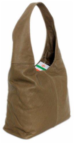 LEATHERWORLD  Italy, Borsa a spalla donna Marrone Marrone mittel