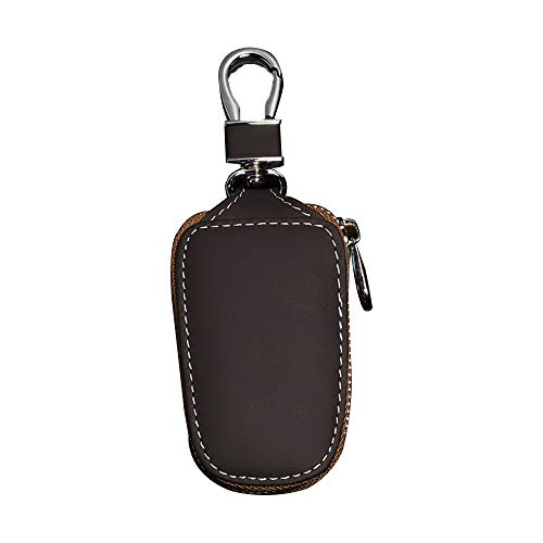 Universal Car Key Chain Bag Key Chains Leather Smart Keychain Coin Holder Case Cover Pouch Remote Fob Bag Keyring Wallet Zipper Case (Brown) Very Affordable and Useful of Key case ()