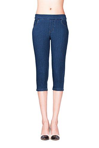 Waist Capri Jeans - 8