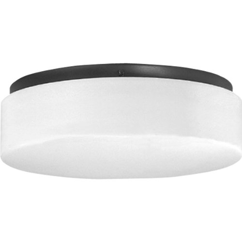 Two Light White Contoured Acrylic - Progress Lighting P7376-31 Energy Efficient Long-Lasting Lamps with Acrylic Diffuser and Standard 120 Volt Normal Power Factor Ballasts That Can Be Wall Mounted UL Listed For Damp Locations, Black