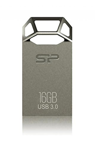 Silicon Power 16GB Jewel J50 USB3.0 Zinc-Alloy Compact USB Flash Drive Titanium Edition by Silicon Power (Image #2)
