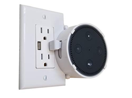 The Lock Mount for 2nd Gen Voice Assistants by Dot Genie: The Lockable Mount for Businesses, Schools, Breakrooms, Waiting Rooms, Offices, VBROs, Homes and Every Other Public Place (White, 1-Pack) ()