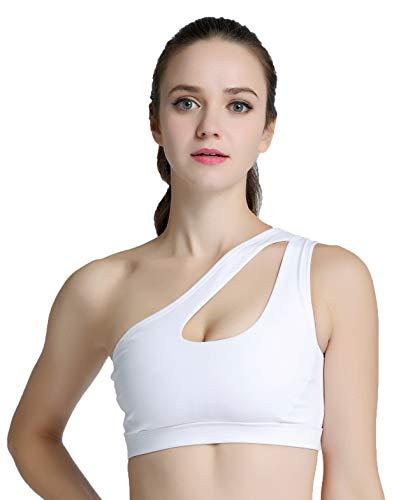 Asymmetric Bra Sports - Helisopus Womens One Shoulder Sports Bra Cute Sexy High Impact Workout Bra Sports Running Bras