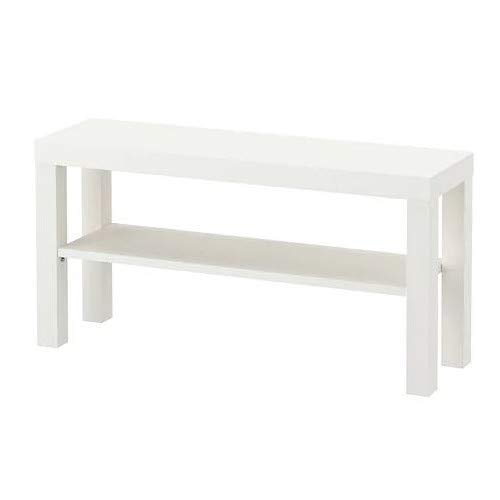 Ikea Lack TV Stand, 90 x 26 x 45 cm, Side Table in White with Bottom...