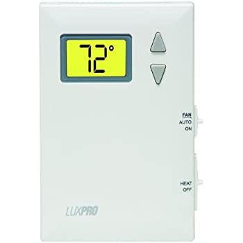 LuxPRO PSD010BF Heating Only with Fan Digital Thermostat