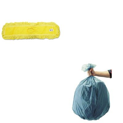 KITRCP501188GRARCPJ15500YEL - Value Kit - Rubbermaid-Dust Mop, Trapper, Looped, 36X5 (RCPJ15500YEL) and Rubbermaid 5011-88 Tuffmade Polyliner Low-Density Can Liners, 55 Gallons (Rubbermaid Trapper)