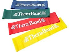 Hygenic/Theraband 20811 Professional Loops Resistance Band, Yellow, Thin, 12'' Length (Pack of 60)