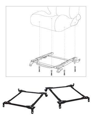Cipher CPA1428MB 06- Mitsubishi Eclipse GT V6 Racing Seat Bracket Set