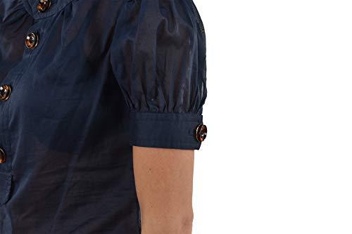 Nuovo Donna Blu Quattro 42 Taglia Camicia Dsquared2 Bottoni Colore qHTxOz