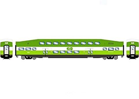 Athearn ATH25959 HO RTR Bombardier Coach, GO Transit #2428 - Athearn Ho Brake
