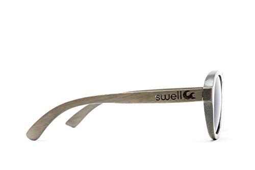 Swell Vision Avalon Platinum Gray Bamboo Sunglasses with Smoke Polarized ()