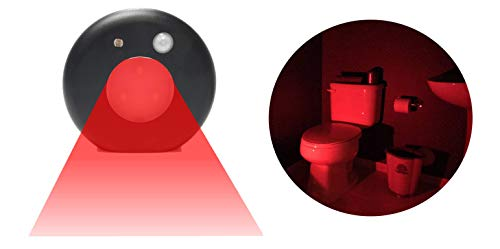 Sleep-Aid Night Light - Motion-Activated Red LED Night Light - Scientifically Proven That Red Lights Won't Interrupt Your Sleep Pattern - C2P Night Light 3 PACK (Black) ()