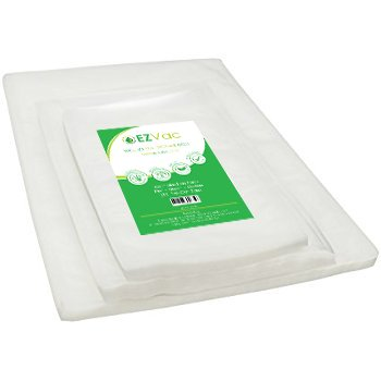 EZVac Pre-Cut Vacuum Food Storage Bags-Clear Storage Bags for Vacuum Sealer Machines-Plastic Freezer Containers for Sous Vide Container Clear Bags-Vacuum Seal Bags-Sous Vide Bags (Combo -