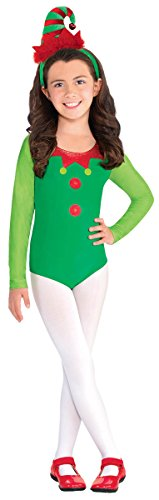 Amscan Fun-Filled Christmas and Holiday Party Elf Bodysuit (1 Piece), One Size, Green