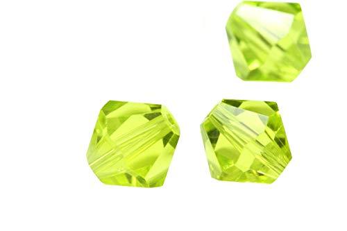 - 100pcs 6mm Adabele Austrian Bicone Crystal Beads Light Olivine Compatible with Swarovski Crystals Preciosa 5301/5328#SSB617
