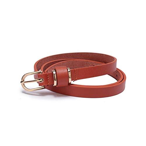 Women'S Skinny Leather Belt Solid Color Waist Or Hips Ornament 10 Sizes 1.5Cm Wide Waistband,Women1.5-Orange,100Cm (Waist 85Cm)
