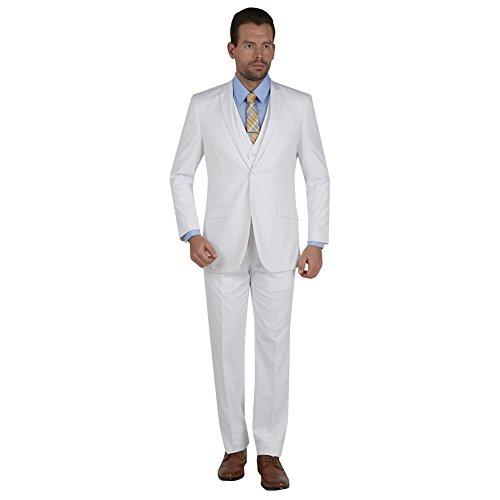 White 3 Piece Suit - 5