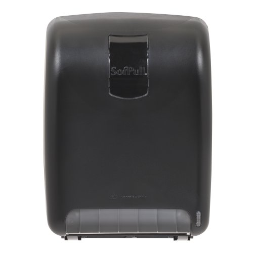 Georgia-Pacific SofPull 59010 Black High-Capacity Automated Roll Towel Dispenser by Georgia-Pacific