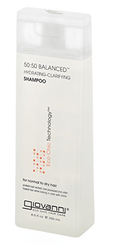 GIOVANNI COSMETICS 50:50 Balanced Hydrating-Clarifying Shampoo For Normal To Dry Hair - Balance The Art Of Clean With Moisture And Protection (8.5 Ounce/250 Milliliter)