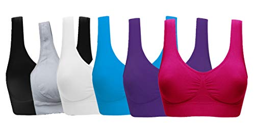 Women's Comfort Workout Sports Bra Low-Impact Activity Sleep Bras
