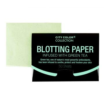 (Pack of 24, 1200 Ct) City Color Green Tea Infused Blotting Paper Oil Absorbing Tissues Blotting Sheets