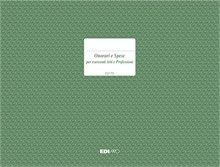 Registro onorari e spese arti e professioni E2175 EDIPRO 24, 5x31 19 pagine numerate