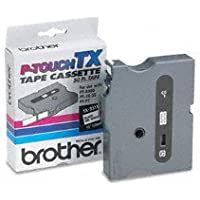 Genuine Brother 1/2 (12mm) Black on White TX P-touch Tape for Brother XL-30, XL30 Label Maker