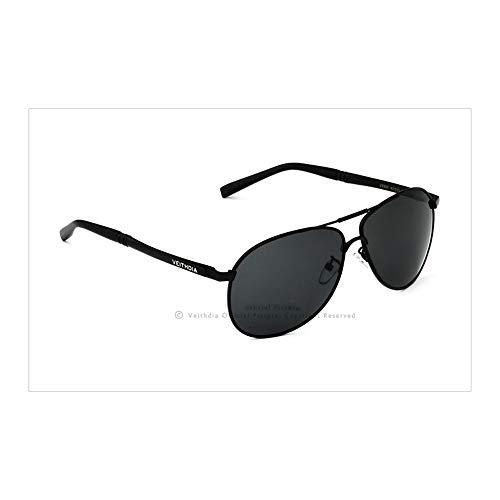De Sol Hombre De Gafas Gafas FKSW Lentes De Moda De Accesorios Sol para De black Polarizados silver Gafas Masculina Sol Gafas wIwnE0Bq