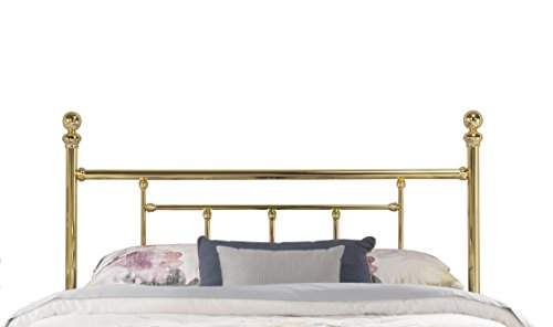 Hillsdale Furniture 1036 Chelsea Without Bed Frame Full Headboard Classic Brass