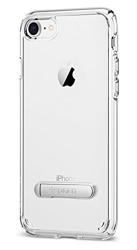 Spigen Ultra Hybrid S [2nd Generation] iPhone 8 Case/iPhone 7 Case with Air Cushion Technology and Magnetic Metal Kickstand for Apple iPhone 8 (2017)/iPhone 7 (2016) - Crystal Clear